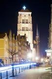 Bazylika Mariacka in Gdansk, Polen stockfotos
