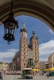 Bazylika Mariacka Krakau Polen Stock Foto's