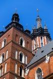 Bazylika Mariacka in Krakow. View of the Bazylika Mariacka in Krakow, poland Royalty Free Stock Photos