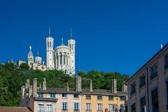 Bazylika Notre Damae De Fourviere w Lion zdjęcia stock