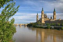 Bazylika Nuestra Senora Del Pilar, Zaragoza zdjęcia stock