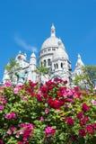 Bazylika Sacre Coeur Święty serce na Montmartre wzgórzu, Paryż, Francja zdjęcia royalty free