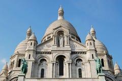 Bazylika Sacre-Coeur katedra w Paryż Obrazy Royalty Free