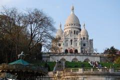 Bazylika Sacre-Coeur katedra w Paryż Fotografia Stock
