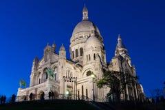 Bazylika Sacre Coeur, Paryż, Francja Zdjęcie Stock