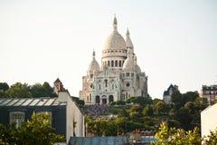 Bazylika Sacre Couer przy Montmartre w Paryż Fotografia Stock