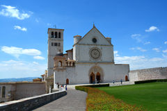 Bazylika San Francesco, Assisi Umbria, Włochy,/ Fotografia Royalty Free