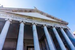 Bazylika San Francesco Di Paola w piazza Del Plebiscito, Naples zdjęcia royalty free