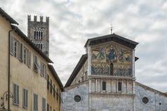 Bazylika San Frediano, lokalizująca na piazza San Frediano w Lucca, Włochy Obraz Royalty Free
