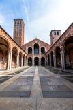 Bazylika Sant ` Ambrogio w Mediolan, Włochy Fotografia Stock