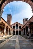 Bazylika Sant ` Ambrogio w Mediolan, Włochy Obraz Stock