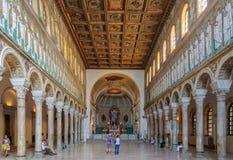 Bazylika Sant Apollinare Nuovo, Ravenna - Obraz Royalty Free