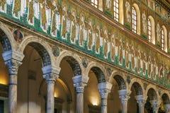 Bazylika Sant Apollinare Nuovo, Ravenna Włochy Obraz Royalty Free