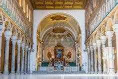 Bazylika Sant Apollinare Nuovo w Ravenna, emilia Ja Zdjęcia Royalty Free