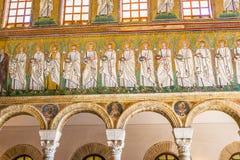 Bazylika Sant Apollinare Nuovo w Ravenna, emilia Ja Obrazy Royalty Free