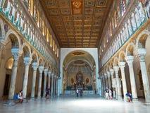 Bazylika Sant Apollinare Nuovo w Ravenna, emilia Włochy Zdjęcie Stock