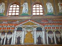 Bazylika Sant Apollinare Nuovo w Ravenna, emilia Włochy Zdjęcia Stock