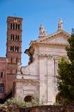 Bazylika Santa Francesca Romana i dzwonnica przy Romańskim forum Obrazy Royalty Free