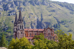 Bazylika Santa María losu angeles Real Covadonga Obraz Royalty Free