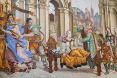 Bazylika Santa Maria nowele w Florencja, frescoes Filipp Zdjęcia Royalty Free