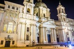 Bazylika St Agnes w agoni Rome Zdjęcia Royalty Free