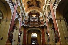 Bazylika St James (czech: Kostel svatého Jakuba VÄ› tÅ ¡ Ãho w Starym miasteczku Praga), republika czech Obrazy Stock