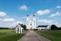 Bazylika wewnątrz, Aglona, Latvia Zdjęcia Stock
