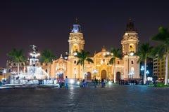 Bazyliki katedra, Lima Zdjęcie Royalty Free