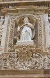 Bazyliki katedra St. Agat. Gallipoli. Puglia. Włochy. Zdjęcie Royalty Free