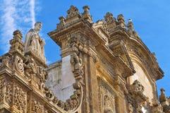 Bazyliki katedra St. Agat. Gallipoli. Puglia. Włochy. Zdjęcia Royalty Free