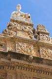 Bazyliki katedra St. Agat. Gallipoli. Puglia. Włochy. Fotografia Stock