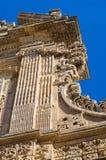 Bazyliki katedra St. Agat. Gallipoli. Puglia. Włochy. Fotografia Royalty Free