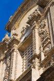 Bazyliki katedra St. Agat. Gallipoli. Puglia. Włochy. Zdjęcie Stock