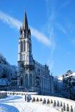 bazyliki Lourdes różana zima Zdjęcie Stock