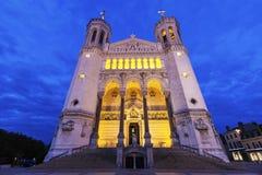 bazyliki Paniusi De Fourviere Lyon notre Zdjęcie Royalty Free