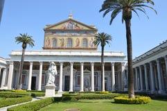 Bazyliki Papale San Paolo fuori le Mura Zdjęcia Royalty Free