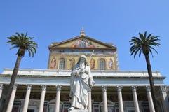 Bazyliki Papale San Paolo fuori le Mura Obraz Royalty Free