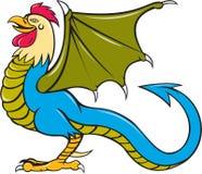 Bazyliszkowego nietoperza skrzydła Trwanie kreskówka Obrazy Stock
