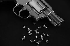 BB枪左轮手枪 图库摄影