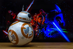 BB-8 Droid Models Royalty Free Stock Images