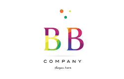 bb b b creative rainbow colors alphabet letter logo icon vector illustration