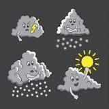 Bb drôle de nuages Photos libres de droits