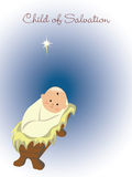 Bébé Jésus dans la mangeoire Photographie stock libre de droits