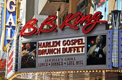 BB King Blues Club & Grill 42nd Street, New York Stock Photos