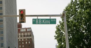 BB King Boulevard Stock Photos