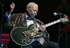BB King performs in concert stock image