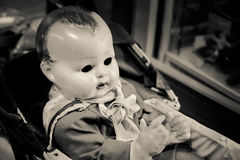 Bébé mauvais - poupée Image stock