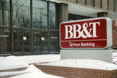 BB&T τραπεζικές εργασίες 24 ώρας στοκ εικόνες