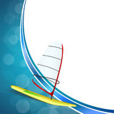 BBackground abstract sea sport holidays design red green windsurfing blue frame illustration Stock Photography