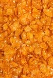 Bbackground of goldish corn flakes. Background texture of goldish corn flakes Stock Images